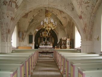 Linderöds kyrka, interiör